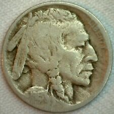 1913 D Type II Buffalo Nickel 5c US Coin Five Cents Bison Indian Head  Good K34