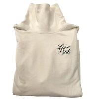 Victorias Secret PINK Shirt Medium Tunic Turtleneck Oversized Flower Cream Top M