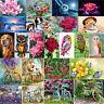 5D DIY Diamond Painting Embroidery Flower Animals Cross Crafts Stitch Kit Decor
