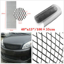 "New Universal Aluminium Car Mesh Grill Kit 40""x13"" Black Body Bumper Grille Net"