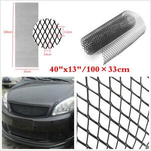 "New Universal Aluminium Car Mesh Grill Kit 40""x13"" Black Body Bumper Grille Net"