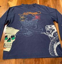 "Ed Hardy ""Death Before Dishonor"" Long Sleeve T-Shirt Mens"