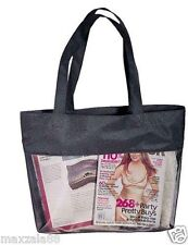 Mesh Tote Large Shopping Bag Purse Sports Beach Travel Black