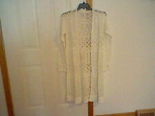 BRAND NEW WOMEN'S/JUNIORS SIZE M BETHANY MOTA BY AEROPOSTALE CROCHET CARDIGAN