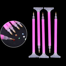 5 Unid / set Dual-ended Nail Art Rhinestone Gem Picker Pink Dotting Pen Manicura