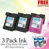 3x Black & Color 63XL Ink Set for HP Envy 4511 4512 4516 4520 4522 4523 4524