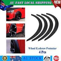 4Pc Universal Car SUV Mudguards Fender Flares Arch Wheel Eyebrow Protector AU