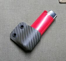 Handmade OLIVE Carbon Texture HOLSTEX Holder for Large Size BIC Lighter B001 EDC
