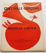 Partition vintage sheet music PATRICIA LAVILA : Cent Mille Garçons * 70's