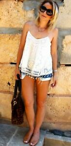 Rare Vintage Kate Moss for Topshop Lace Embroidered Topshop Cami size 10