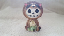 Furrybones Tanuki the Raccoon Dog Figurine Skull in Costume New Free Shipping