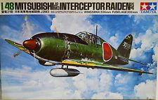 Tamiya Mitsubishi J2M3 Raiden Intercetor 1/48 scale kit in open box