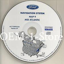 05 06 2007 FORD ESCAPE NAVIGATION MAP CD 9 MID ATLANTIC DE MD VA WV PARTS NJ PA