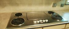 Vintage Stainless Steel Electric Cooktop Made in Usa