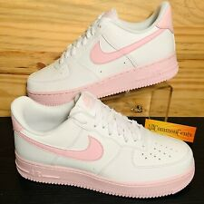 NikeAir Force 1 Low '07 Pink Foam Women's Shoes Size 8.5 Leather White AF1 NEW