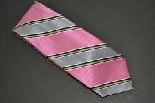 Robert Talbott Handsewn Pink Striped Tie  59 X 3 1/2