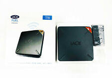 LaCie Fuel Wireless Wi-Fi 1TB HDD Portable External Drive USB 3.0 iPad iPhone