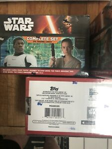 2 Factory Sealed STAR WARS THE FORCE AWAKENS Series 1 &2 2016 TOPPS