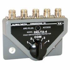 Alpha Delta 4B/N Coaxial Switch 4 Way with Built in Lightning Surge Protection