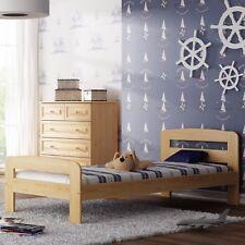 Kieferbett Massivholzbett Einzel Bettrahmen 90x200cm flexibles Lattenrost Bett