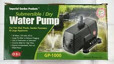 Imperial Garden Submersible/Dry Inline Water Pump GP-1000- 290gph