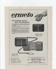 1930 Advert for 'ERMETO Normal & Master Model Watches' + Sovereign Pencils