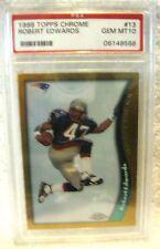 Robert Edwards RC 1998 Topps Chrome Rookie Card#13 GEM PSA 10-Patriots RB RC