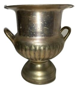 Vintage International Silver Co. Brass Wine Bucket Urn With Two Side Handles