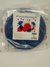 Fourth of July Decoration Kit 14 Pieces Pom Poms Lantern Honeycomb Garland New