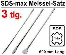 SDS-max Meißel Set 3-tlg. 600 mm Flachmeißel Spitzmeißel Breitmeißel Spatmeißel