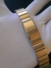 "CORREA/BRACELET RELOJ TIPO OMEGA 17.5MM ACERO ""NEW OLD STOCK 1970"""