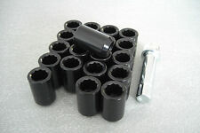 Tuner Wheel Nut & Locking nut set in Black(16+4)12x1.5 Bolts for Mazda MX5,Ford,