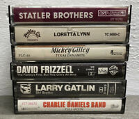 Lot of 6 Classic Country (70's-80's) Cassettes Statler Bros, Lynn, Gilley, CDB