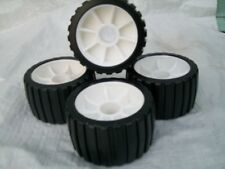 4 x New Wobble roller black non marking for Boat Trailers
