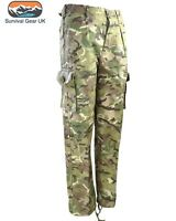 Kids Camo Trousers Highlander Combat British BTP Camouflage Army RAF Kombats New