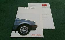 1985 DAIHATSU CHARADE UK BROCHURE + LETTER - CS CX TURBO PETROL & DIESEL