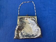New listing Whiting and Davis Vintage 50s Gold Mesh Purse Small Kiss Lock Handle Signed Usa
