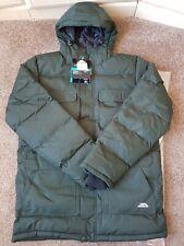 Mens Trespass baldwin waterproof padded jacket TP50 in olive size UK Medium.