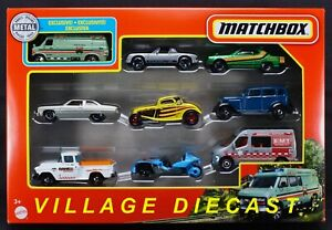 2021 Matchbox 9-Pack w/Exclusive Chevy® G20 Van / Nissan Skyline with HARNESS