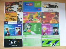 12 Assorted Used Phone Cards