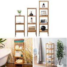 3/4/5 Tier Wood Bamboo Bathroom Kitchen Shelf Storage Rack Unit Book Plant Stand