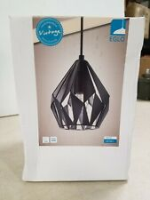 Eglo Carlton 3 1-Light Matte Black Pendant 202035A