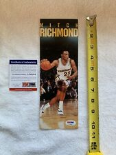 MITCH RICHMOND Autographed Costacos 4x10 Promo Card w/PSA DNA AUTHENTICATION