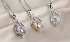 Sterling Silver 925 Pendant Necklace Genuine Freshwater Pearl UK Wedding Gift