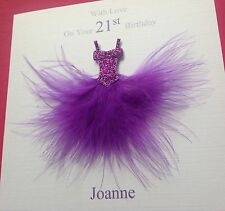 HANDMADE PERSONALISED BIRTHDAY CARD MUM  DAUGHTER AUNTY 16TH 18TH 21ST 30 40 50