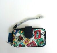 Vera Bradley Women's Cuban Stamps Quilted Fabric Zip Wallet Wristlet RFID