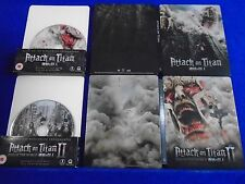 blu-ray ATTACK ON TITAN x2 I + II End Of World Steelbook Edition UK EXCLUSIVE