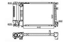 NRF Radiador refrigeración del motor Para BMW 3 5 53426A
