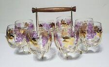 Mid Century Modern Barware Drink Glassware With Caddy