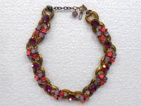 BIGIOTTERIA VINTAGE - Girocollo in metallo brunito e perle